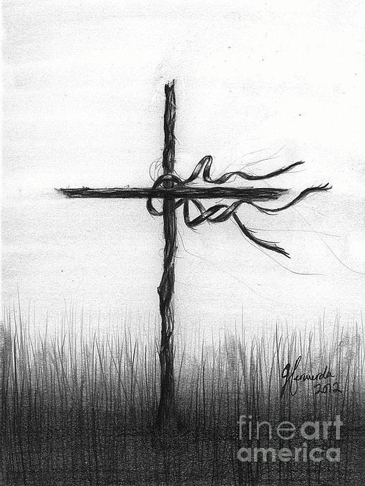 Cross Drawing - Close To The Brokenhearted by J Ferwerda