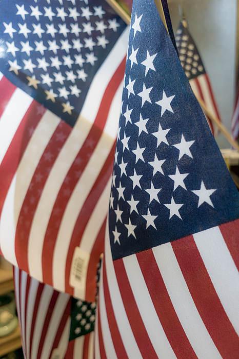 Close-up Of American Flags Photograph by Jesse Coleman / EyeEm
