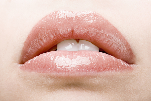 Close-up On Slightly Open Lips With Gloss Photograph by Rayman