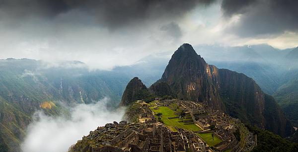 Machu Picchu Photograph - Clouds About To Envelop Machu Picchu by Alison Buttigieg