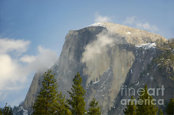 Half Dome Photograph - Clouds Around Half Dome  by Jim And Emily Bush