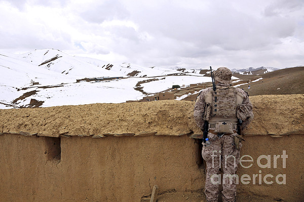 Afghanistan Photograph - Coalition Forces Visit The Hazaran by Stocktrek Images