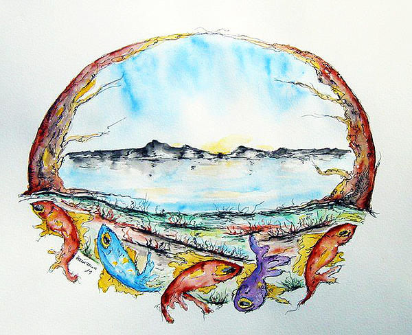 Fish Painting - Coast by Natasa Dobrosavljev