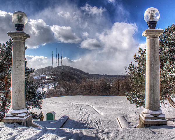 Winter Photograph - Cobbs Hill Park In Winter by Tim Buisman