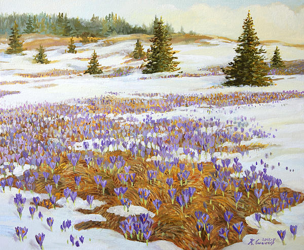 April Painting - Cold Weather Is Going Away by Kiril Stanchev