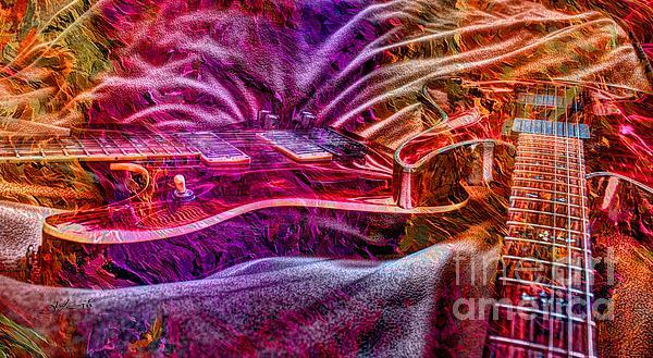 Acoustic Photograph - Color Wheel Digital Guitar Art By Steven Langston by Steven Lebron Langston