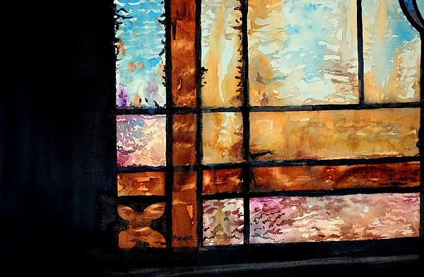Stained Glass Window Painting - Colored Impressions by Spencer Meagher