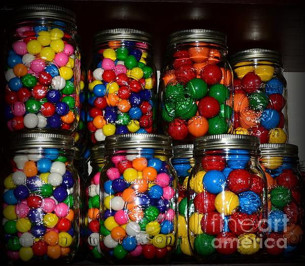 Paul Ward Photograph - Colorful Gumballs by Paul Ward