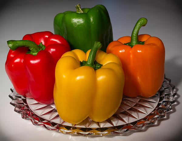 Bell Peppers Photograph - Colorful Platter by Shane Bechler