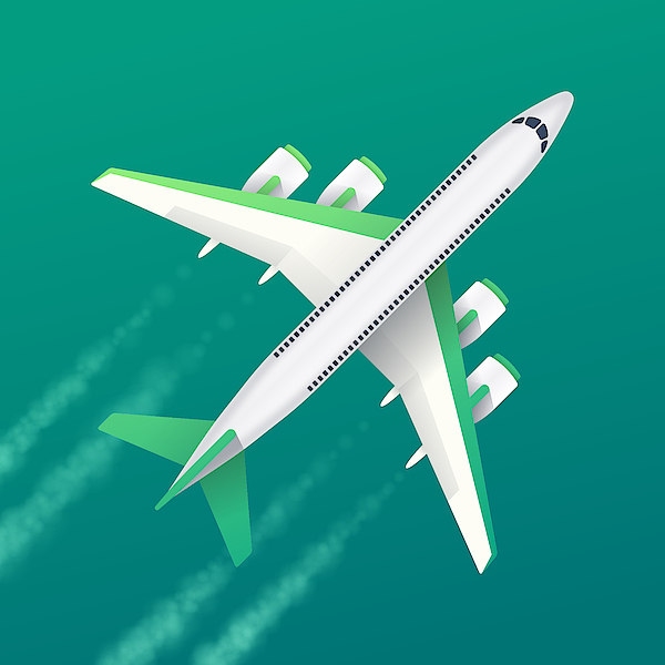 Commercial Air Travel Background Drawing by Filo