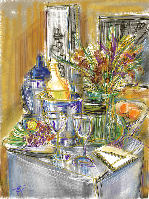 Still Life Mixed Media - Compliments Of Blondie N. by Russell Pierce