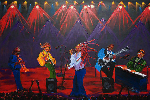 Miles Davis Painting - Concert Of All Concerts by Portland Art Creations