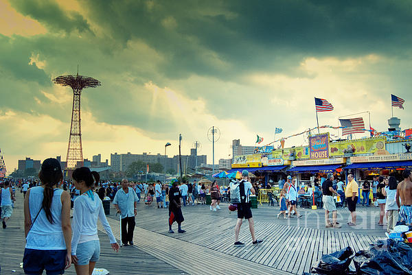 Coney Island Photograph - Coney Island Brooklyn New York City by Sabine Jacobs