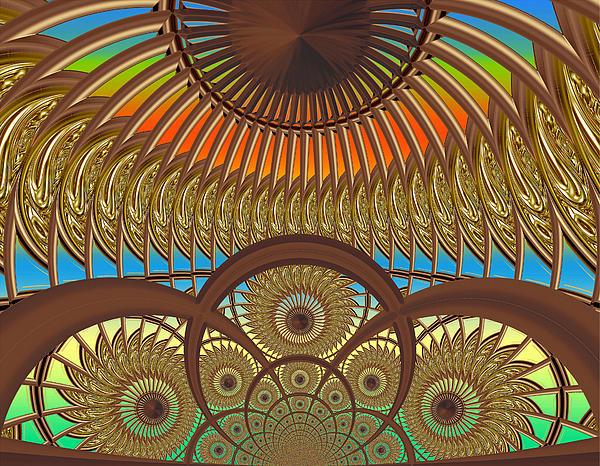 Fractal Digital Art - Conservatory - Sunset by Wendy J St Christopher