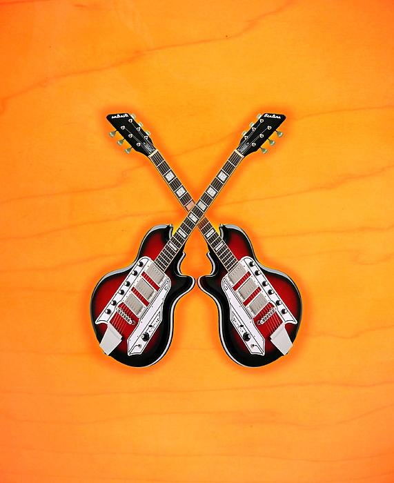 Vintage Digital Art - Cool Vintage Guitar by Doron Mafdoos