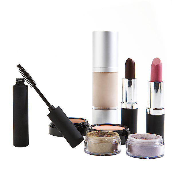 Cosmetics On White Background Photograph by Thomas Northcut