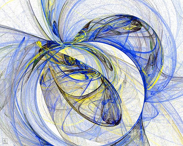 Blue Painting - Cosmic Web 5 by Jeanne Liander