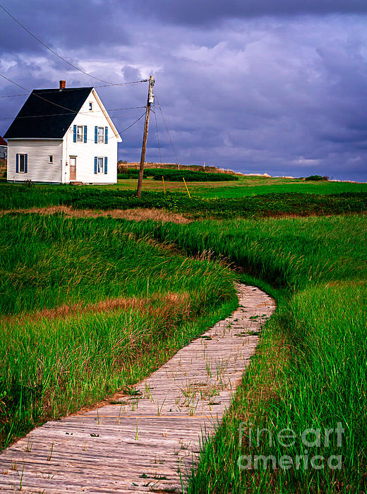 Canada Photograph - Cottage Among The Dunes by Edward Fielding