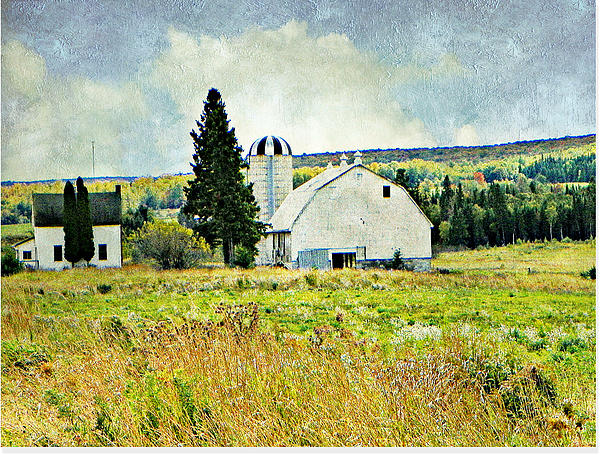 Barn Silo Farm House Country Back Roads  Photograph - Country Farm by Dianne  Lacourciere