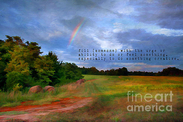 Atmosphere Photograph - Country Rainbow by Darren Fisher