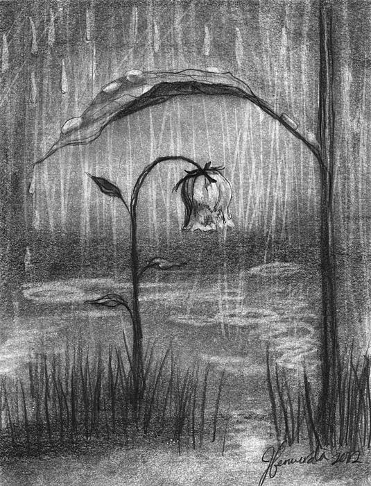 Raining Drawing - Covered In Prayer by J Ferwerda