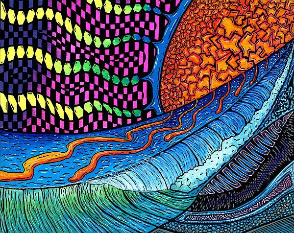 Sun Painting - Crackle Sun by Sam Bernal
