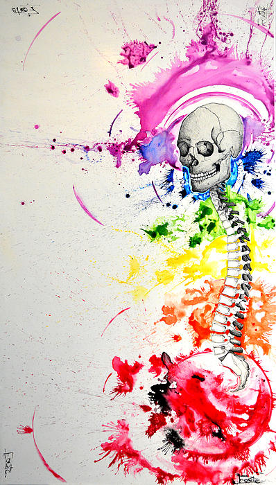 Chakra Painting - Crainial Sacral Chakra by James Foote