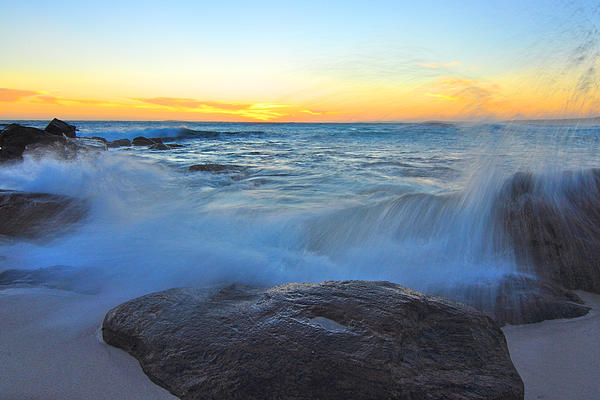 Landscape Photograph - Crashing Down by Sally Nevin