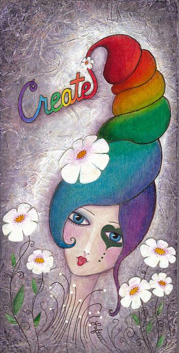 Rainbow Painting - Create by Joann Loftus