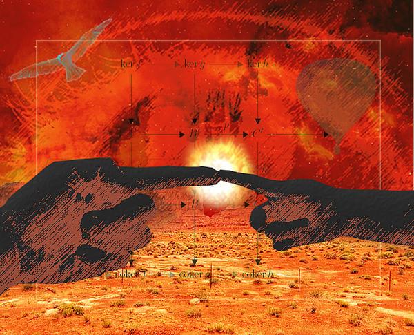 Desert Digital Art - Creation. by Diskrid Art