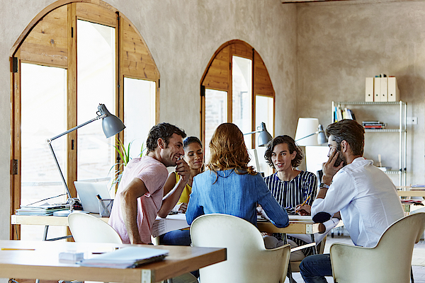 Creative Business People Discussing In Office Photograph by Morsa Images