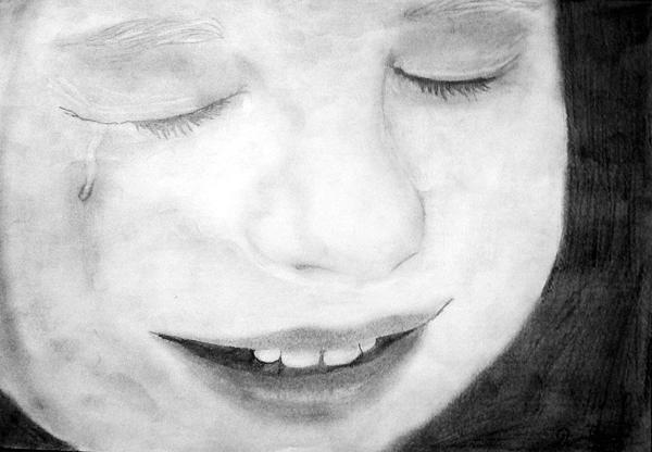 Crying Baby Drawing by Dianovich Diana