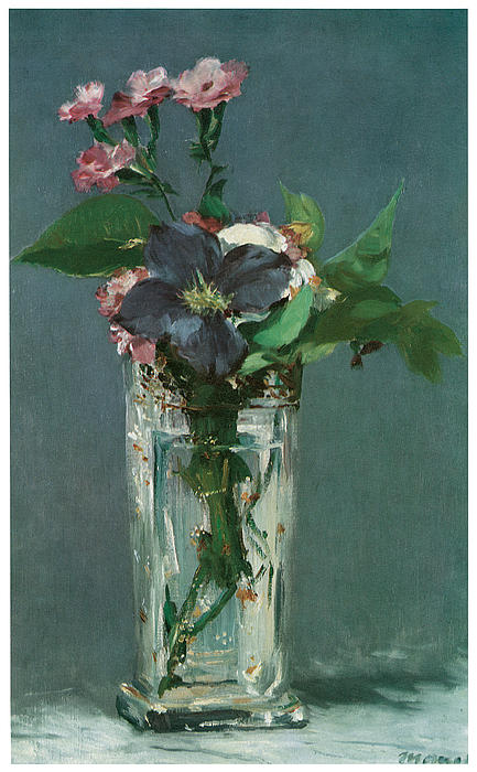 Crystal Vase With Flowers Painting By Edouard Manet