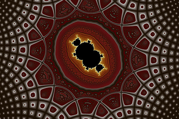 Abstract Digital Art - Cubic In Deformed Grid by Mark Eggleston