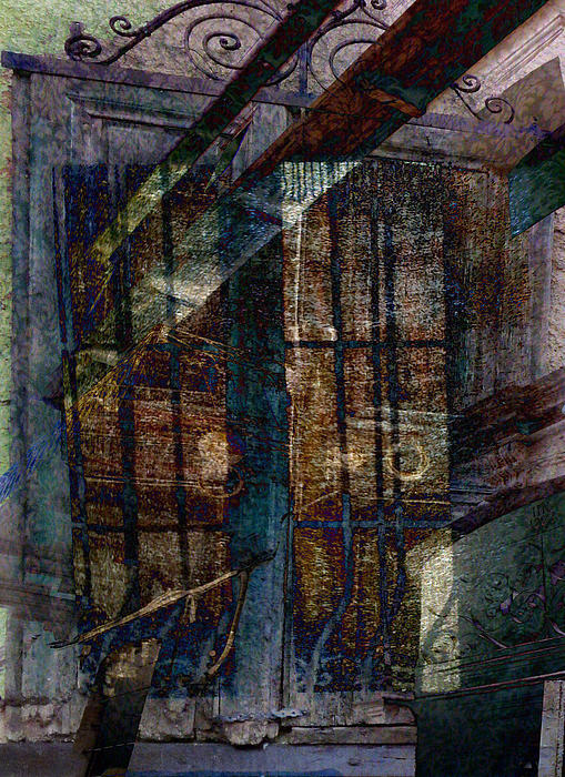 Shutters Digital Art - Cubist Shutters Doors And Windows by Sarah Vernon