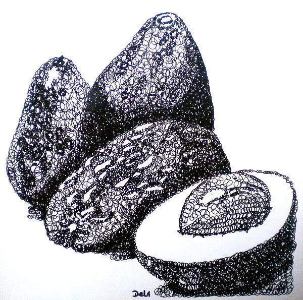 Avocados Painting - Curly Avocados by Debi Starr