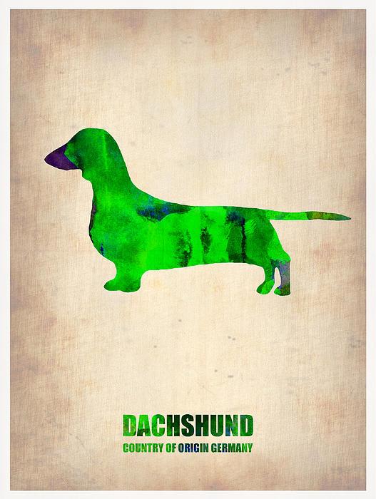 Dachshund Painting - Dachshund Poster 1 by Naxart Studio