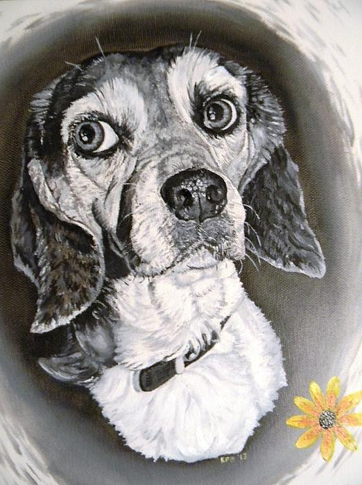 Dog Painting - Daisy Dog by Kevin F Heuman