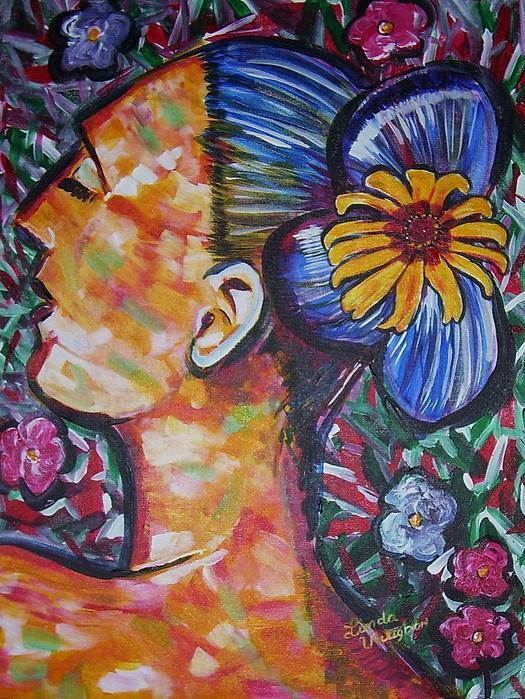 Daisy Painting by Linda Vaughon