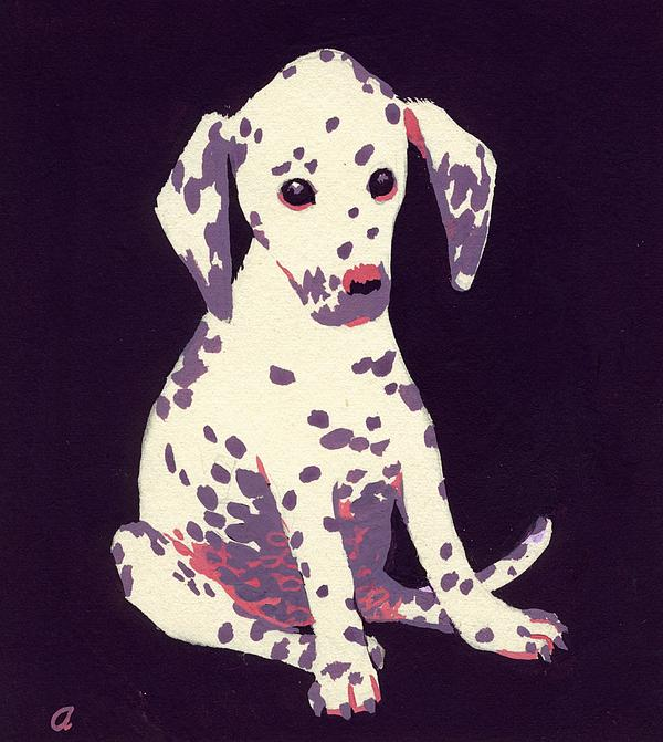Dog Painting - Dalmatian Puppy by George Adamson
