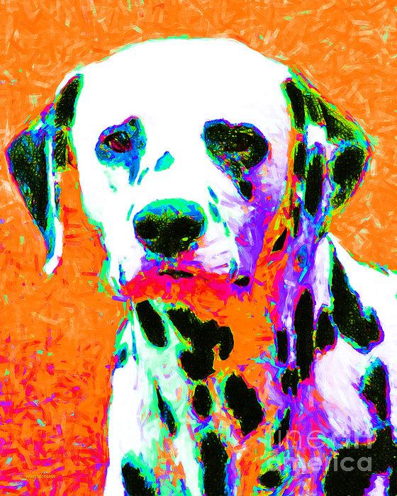 Animal Photograph - Dalmation Dog 20130125v2 by Wingsdomain Art and Photography