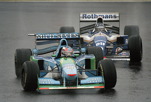 Damon Hill And Michael Schumacher Photograph by Pascal Rondeau