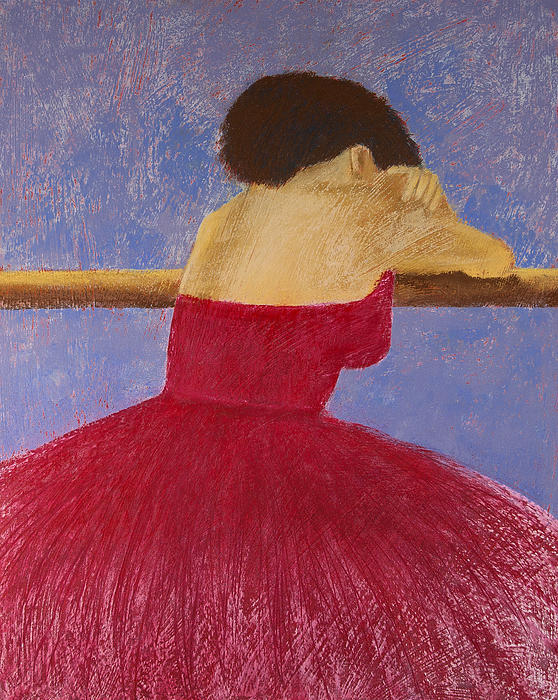 Pastel Painting - Dancer In The Red Dress by David Patterson