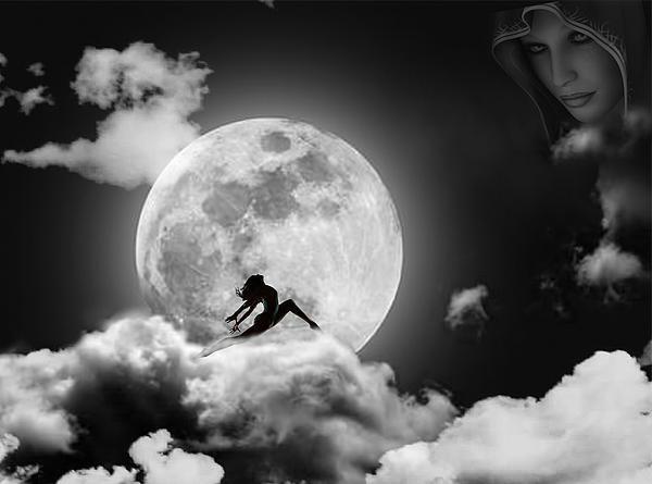 Moon Digital Art - Dancing In The Moonlight by Alex Hardie