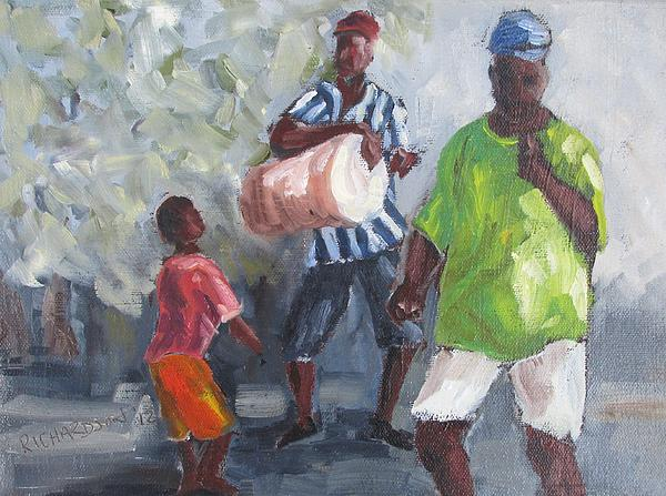 Bahamas Painting - Dancing In The Street Eleuthera by Susan Richardson