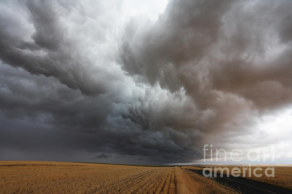 Dark Storm Clouds Photograph - Dark Storm Clouds by Boon Mee