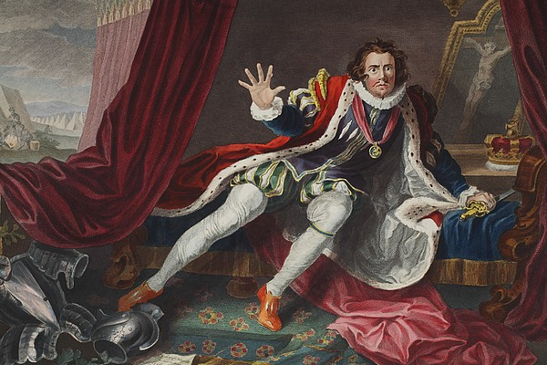 Actor Drawing - David As Richard IIi, Illustration by William Hogarth