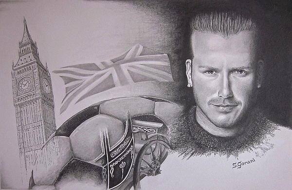 David Beckham Drawing - David Beckham by Geni Gorani