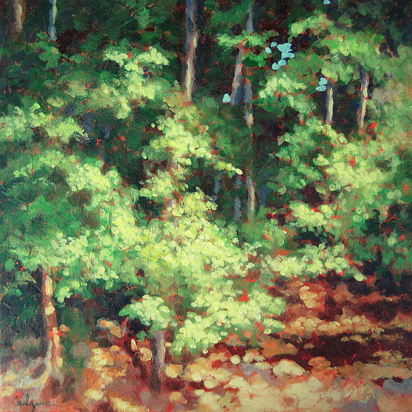 Trees Painting - Daylight by Carlynne Hershberger