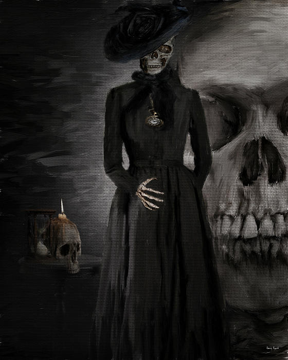 Woman In Black Photograph - Deathly Grace by Lourry Legarde